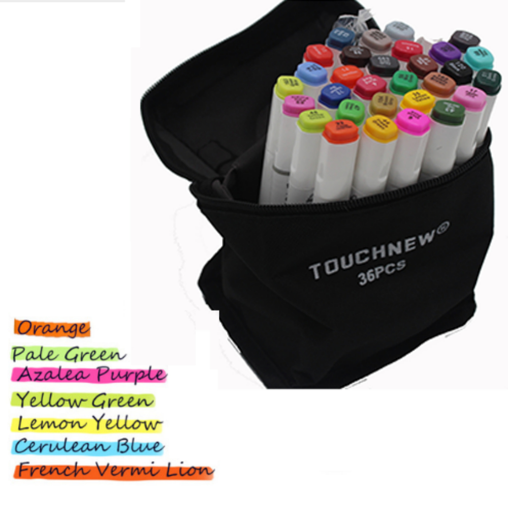 Free shipping Alcoholic oil six generation professional design hand-painted 30 36 40 color fine markers pen manga Student