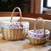 Handmade Storage Wicker Baskets For Picnic Food Drink Toys Sundries Novelty Christmas Gift For Girl Small