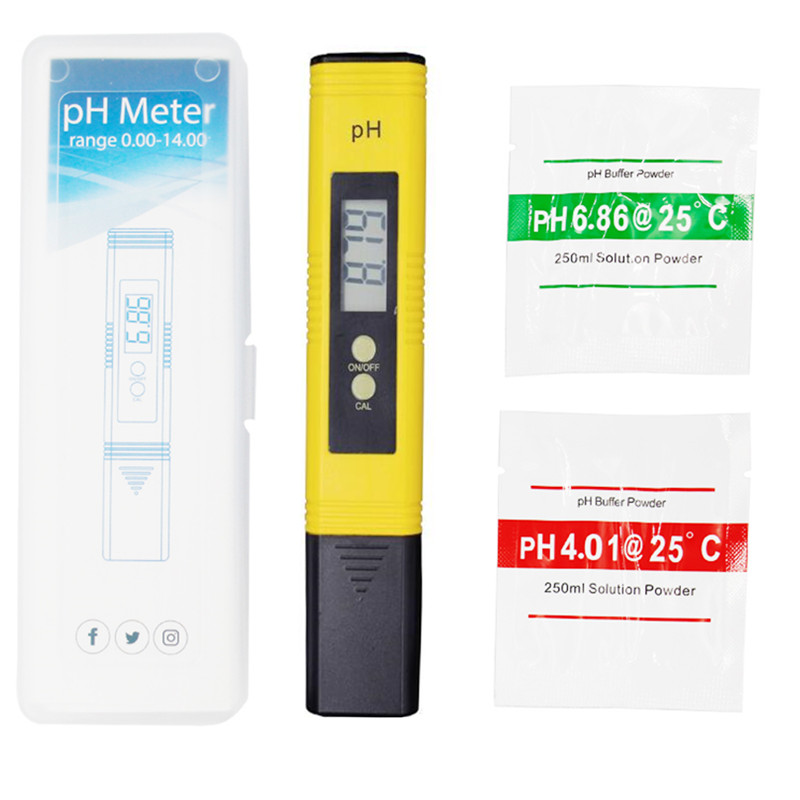 Nuevo portátil LCD Digital PH Metro pluma de la precisión del probador 0,01 acuario piscina agua vino orina calibración automática 15%