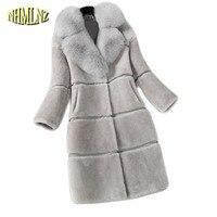 2019 Women Winter Faux Fur Coat Thicken Warm Female Artificial Fur Coats And Jackets Solid Color Coat Faux Fur Warm coat LH227