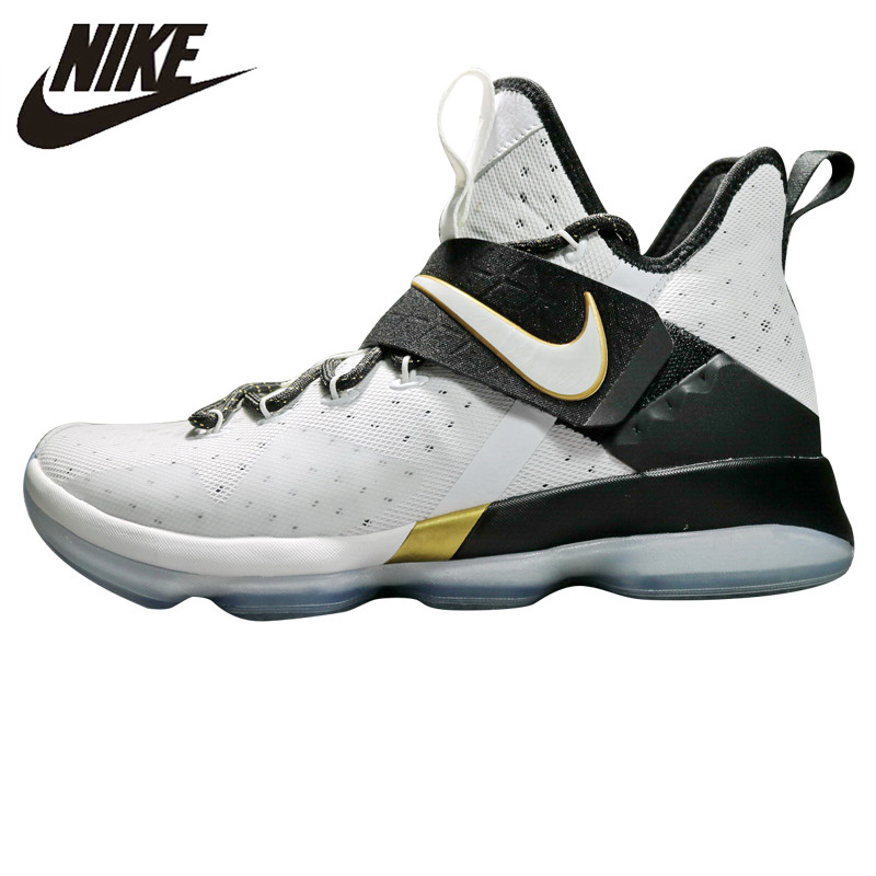 timeless design 1bdad bd372 US $167.44 30% OFF|NIKE LeBron 14 BHM LBJ14 Men Basketball Shoes,Outdoor  Sneakers Shoes,White, Shock Absorption Non Slip Wear Resistant 860634  100-in ...