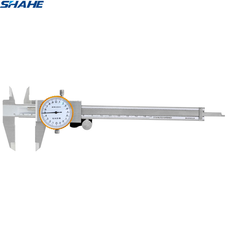 shahe 6 inch dial caliper Shock proof Vernier Caliper 0 150 mm 0.02 mm dial vernier caliper gauge micrometer stainless steel|Calipers| |  - title=