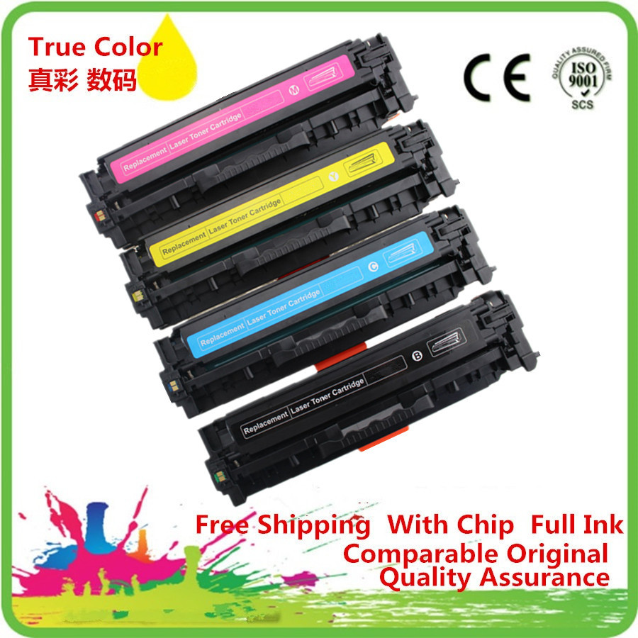 Blue Yellow-Combination Magenta Compatible Toner Cartridges 128A CE320A Replacement for HP Color Laserjet 128A CE320A Cp1525 Cp1525n Cp1525nw Cp1415 Printer with Chips Black
