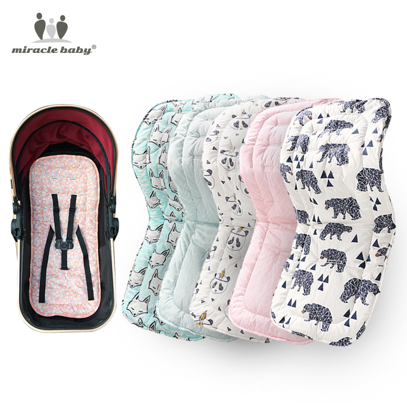 Comfortable Cotton Baby Stroller Pad Four Seasons General Soft Seat Cushion Child Cart Seat Mat Kids Pushchair Cushion For 0-27M