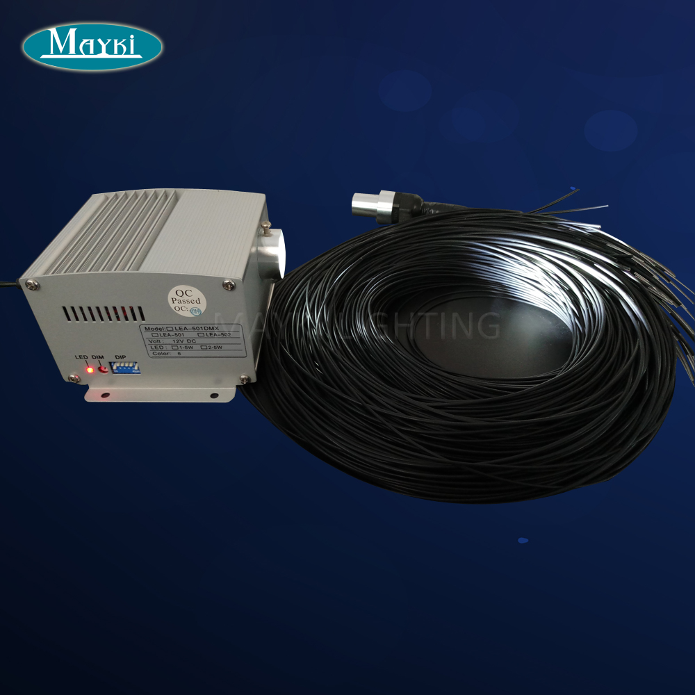Maykit Sauna Room Light Using With 80pcs 2m Black PVC Jacket Optical Fibre Tails And Cree