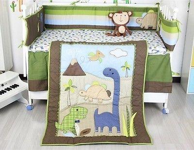 baby nursery 7p crib bedding set dinosaur christmas winter warm gift