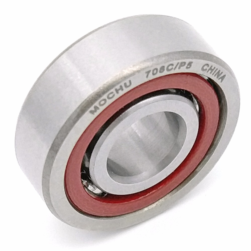 10PCS 8mm Spindle Angular Contact Ball Bearings 708C/P5 SUPER PRECISION BEARING ABEC-5 708 708C 708AC 8x22x7 MC BEARING