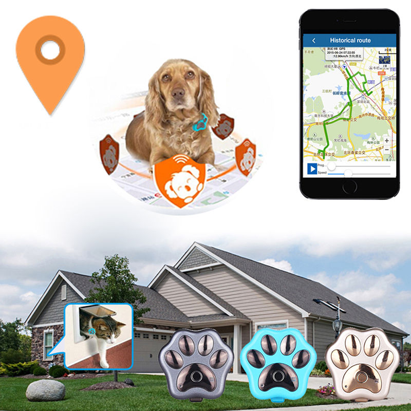 Waterproof 3G GPS Tracker GSM WIFI GPS Locator Real Time Tracker 2018 Auto Mini Tracking Device Paw for Pets Dogs Cats Elders