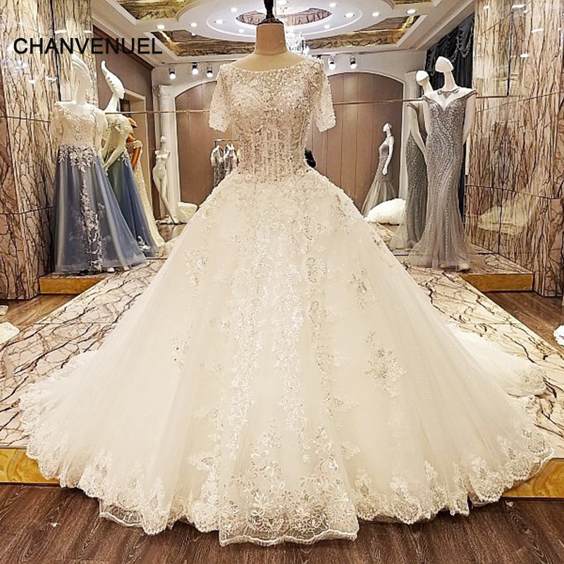 Wedding Dresses Ball Gown Corset: LS08741 Special Wedding Dresses Lace Ball Gown Corset Back