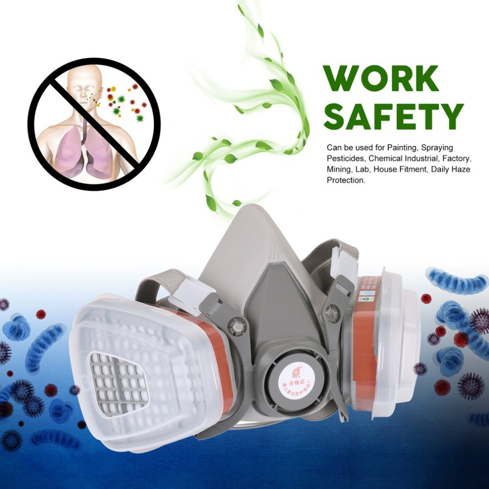 Back To Search Resultshome & Garden Professional Full Face Facepiece Respirator For Painting Spraying Work Safety Masks Prevent Organic Vapor Gas Drop Shipping Festive & Party Supplies