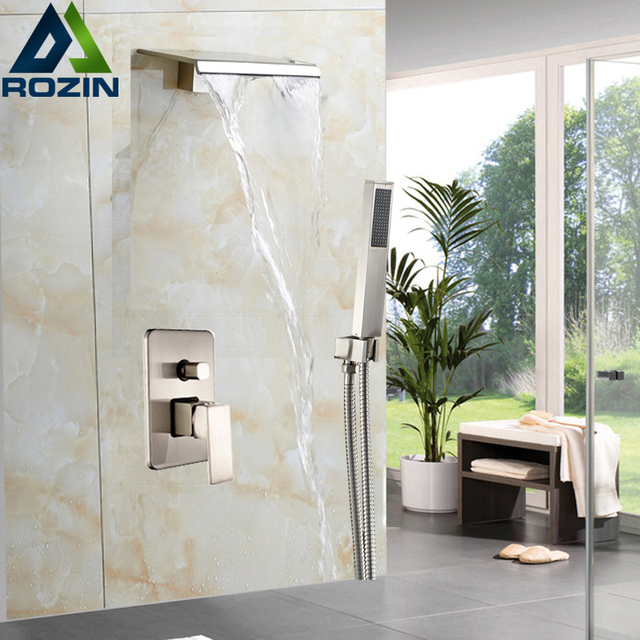Exceptional Newly Best Quality Waterfall Shower Mixer Set Single Handle With Handshower Bathroom  Shower Faucet