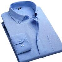 Brand 100 Cotton Solid Striped Shirt Men Spring Casual Shirts Oxford Men S Business Dress Shirt