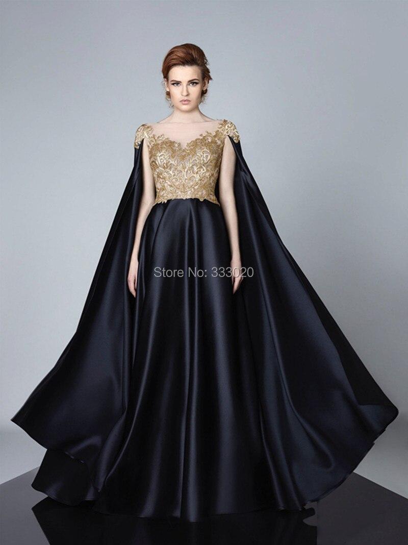 Evening Dresses With Capes - Plus Size Dresses