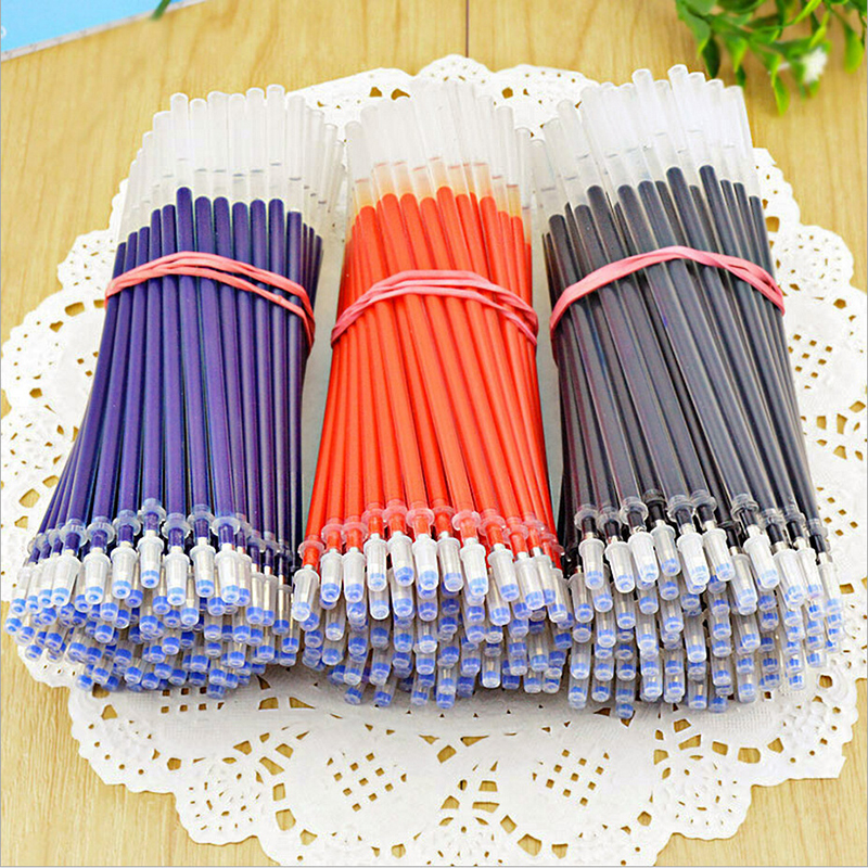 20 Pcs Neutral Ink Gel Pen Refill Neutral Pen Good Quality Refill Black Blue Red 0.5mm Bullet Refill Office And School