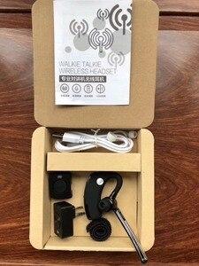 Image 3 - baofeng bluetooth walkie talkie headset earpiece  K head Wireless bluetooth ptt headset Adapter for baofeng kenwood microphone