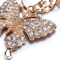 New Design Lovely Key Chain  Rhinestone Butterfly Jewelry Keychain Women Key Holder Car Bag Pendant Cute Birthday Key Chain