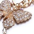 Nuevo Diseño Precioso Llavero Rhinestone de La Mariposa de la Joyería Llavero Mujeres Bolsa Colgante de Cumpleaños Lindo Llavero Llave Del Coche Titular
