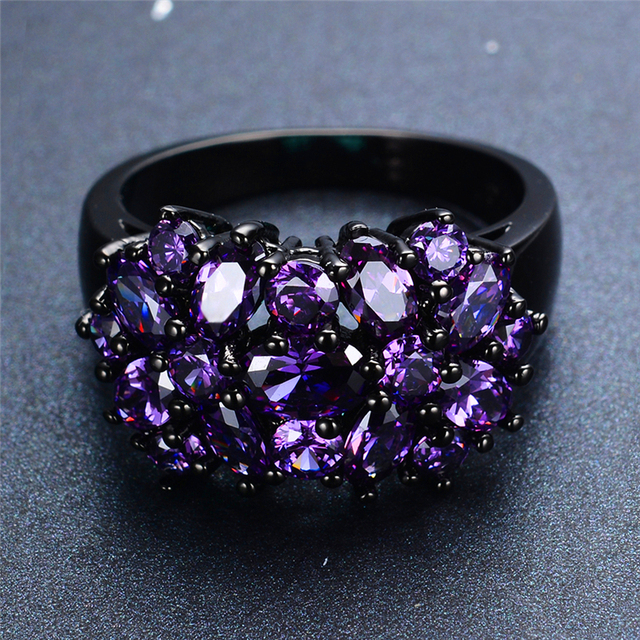 Elegant CZ Ring Unique Design Vintage Party Wedding Rings For Women