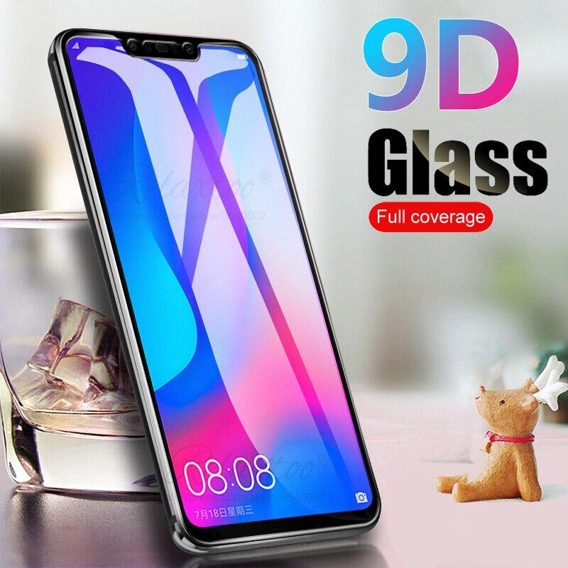 9D Curved Full Cover Glue Tempered Glass On For Huawei Nova 3i 3e Screen Protector Nova3i Nova3e Nova3 I E Protective Film Glas