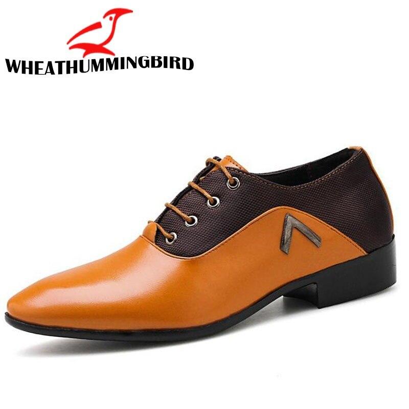 Men's Shoes Qwedf 2019 New Mature Men Dress Leather Shoes Fashion Men Wedding Dress Shoes Business Comfortable Office Party Shoes Dd-045 Shoes