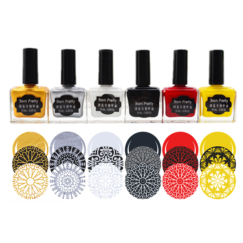 купить 15ml Born Pretty Nail Art Stamping Polish Newly Sweet Style Nail Polish Candy Colors Nail Stamp Varnish по цене 900.97 рублей
