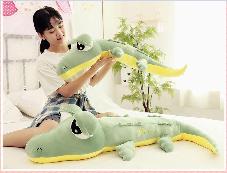 Dessin animé crocodile en peluche très doux coton poupée câlin oreiller cadeau d'anniversaire h1469