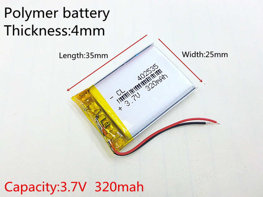 все цены на 3.7V 320mAh 402535 Lithium Polymer Li-Po li ion Battery cells For Mp3 MP4 MP5 GPS PSP mobile bluetooth онлайн