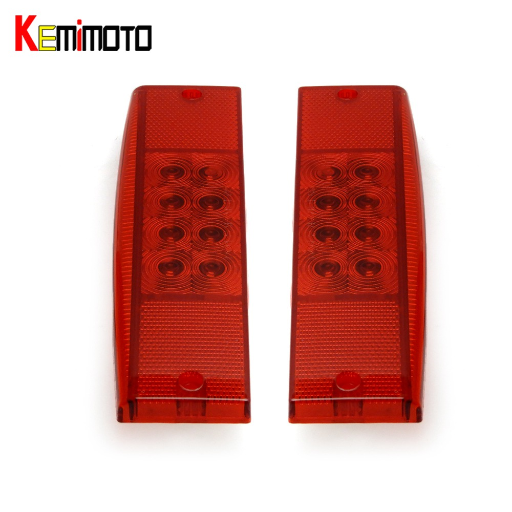 KEMiMOTO 1 pair Tail Light Left Right Side TailLight REAR LIGHT STOP LIGHT for Polaris Ranger 500 Ranger 400 2011 2012 2013 left right rear car styling head lamp taillight led taillight tail light lamp w bulb harness for ford ranger pickup ute 2008 11