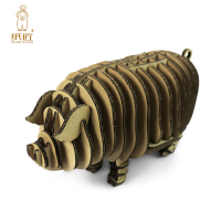 3d Puzzle Piggy Toy Model Paper Craft Kids Adult DIY Art Cardboard Animal Cute Pig Decoration Parent child Educational Game Gift