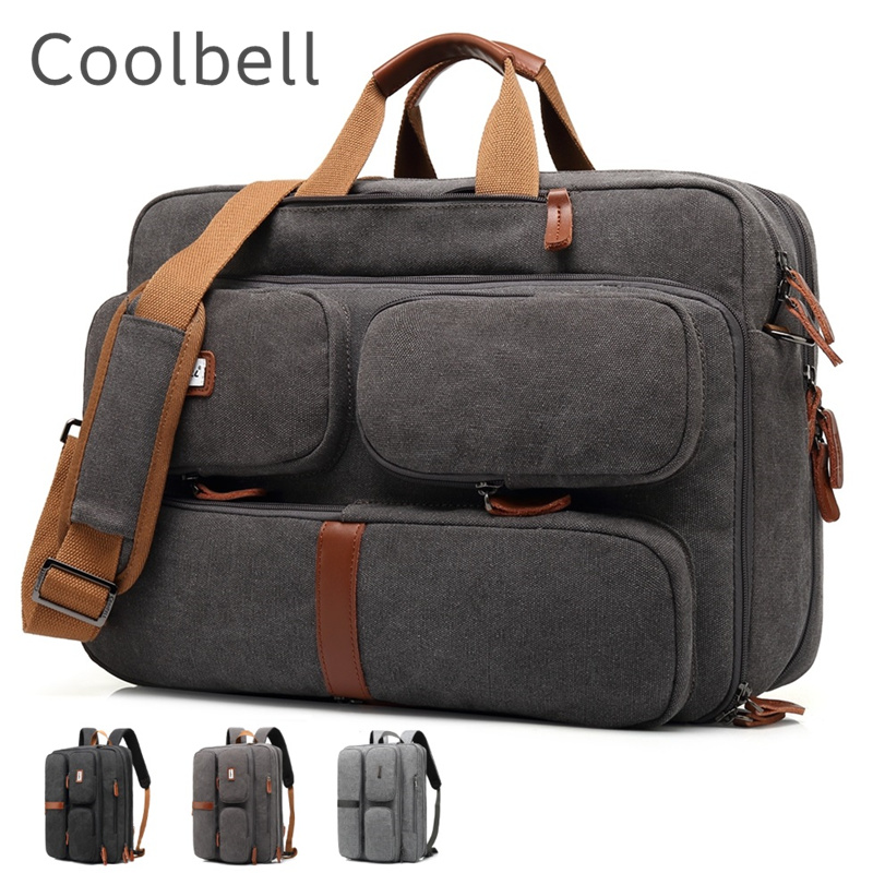"""2019 Coolbell Brand Messenger Backpack For Laptop 15.6"""",17"""",17.1"""",17.3"""" Notebook Bag, Packsack, Free Drop Shipping 5601-in Laptop Bags & Cases from Computer & Office"""