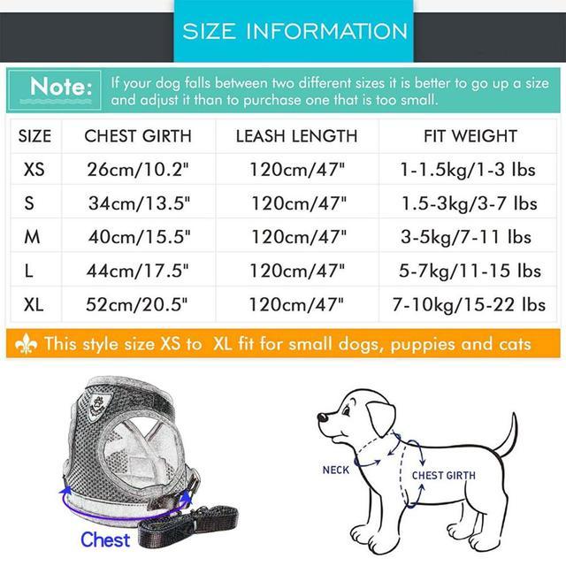 Reflective Dog Cat Harness Pet Adjustable Vest Walking 2