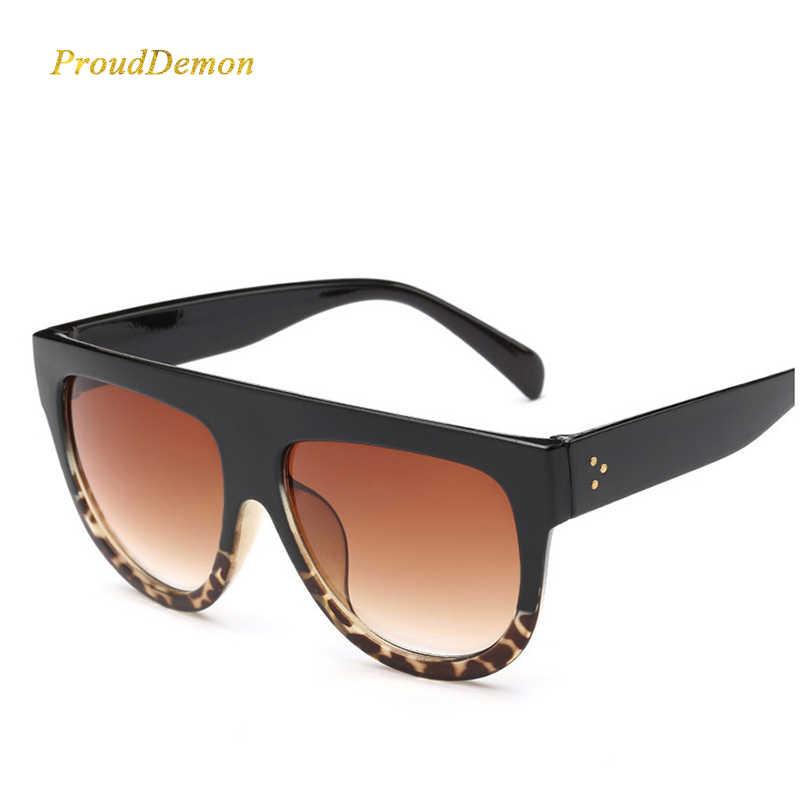 3eea69ab70ed Woman oculos Flat Top Big Oversized Mirror Sun Glasses Cat Eye Sunglasses  Women Designer Brand Luxury