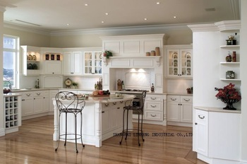 Кухонный шкаф в стиле кантри из цельного дерева (LH-SW011)