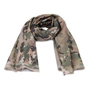 1 шт. военный тактический Камуфляжный шарф, Спортивный сетчатый дышащий головной убор, сетчатый шарф для улицы, джунгли, глушитель для кемпинга, пешего туризма, мужской шарф