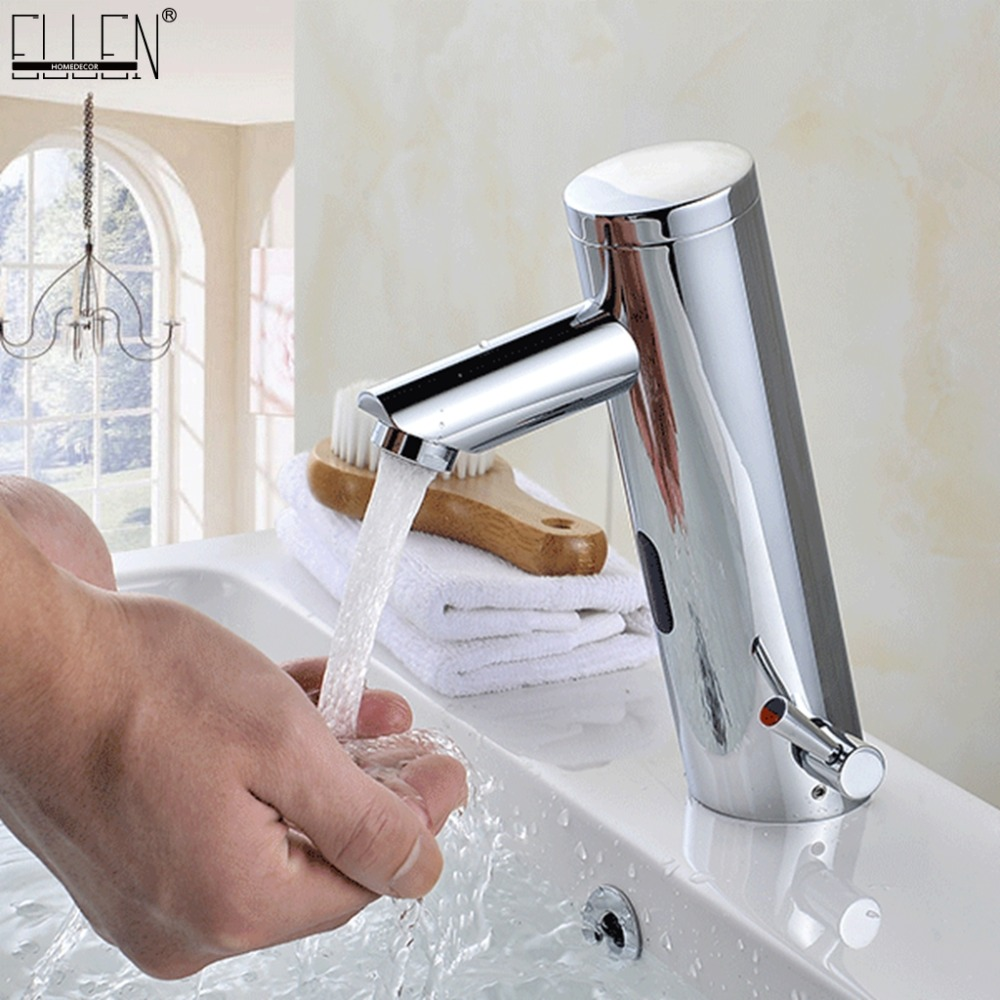 Deck Mounted Bathroom Sink Faucet Cold & Hot Hand Touch Tap ...