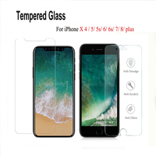 9H Tempered glass on the for iphone X 6 7 protective glass screen protector if film case caver for iphone X 4 5 6 7 8 plus glass стоимость