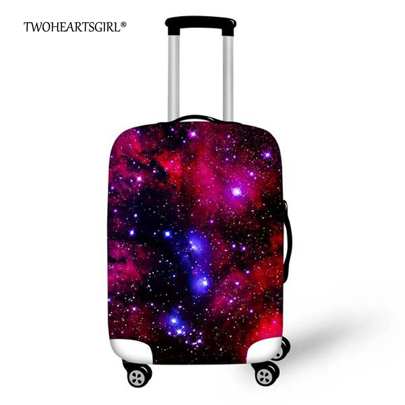 TWOHEARTSGIRL Waterproof Elastic Space Star Luggage Protective Cover For 18-32 Inch Suitcase Protect Dust Bag Travel Accessories