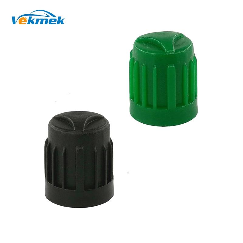 12 Ventilkappen Gummiventil Kunststoff Reifenventil Kappen schwarz