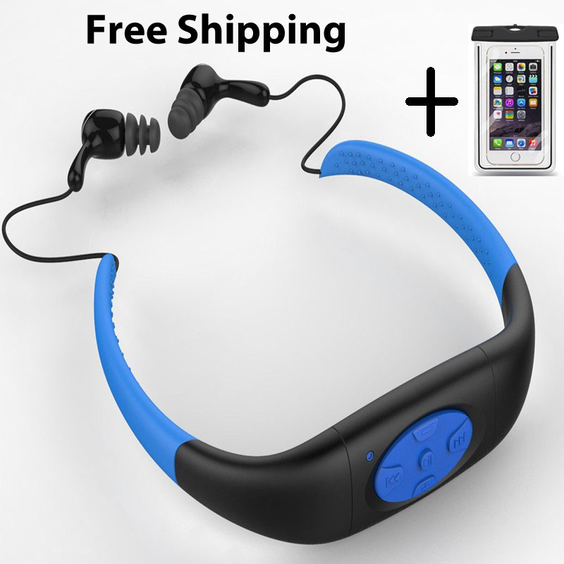 headphone water proof mp3 without fm usb music not wireless not car without bluetooth 4GB TMP301_4N#