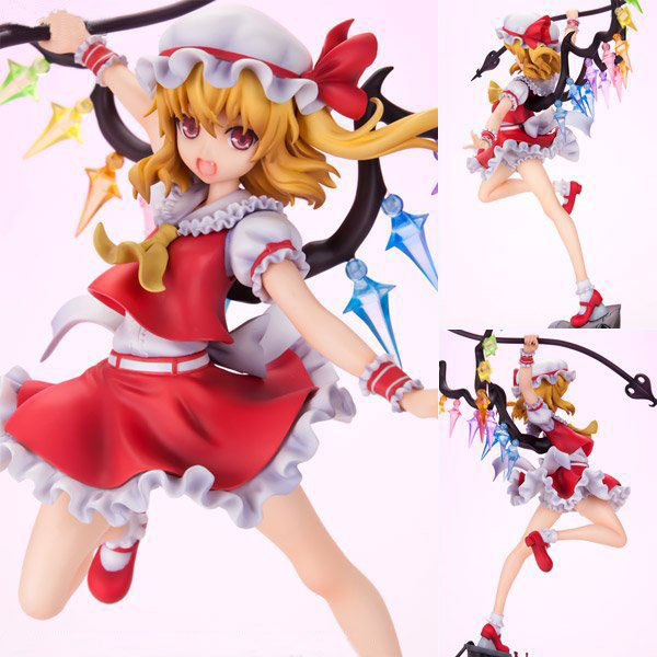 Free Shipping 10 Touhou Project Anime Sister of the Devil Flandre Scarlet Boxed 24cm PVC Action Figure Collection Model Doll