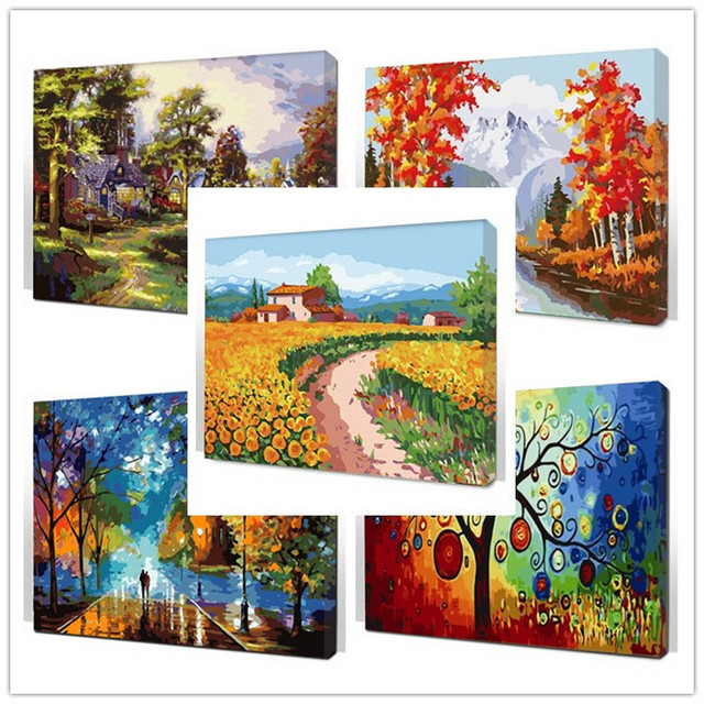 Framed digital oil painting by numbers coloring by number for home decor picture oil painting for wall decor canvas painting