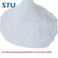 1PC 1KG Not yellowed Original White Toner for OKI C711WT Thermal transfer