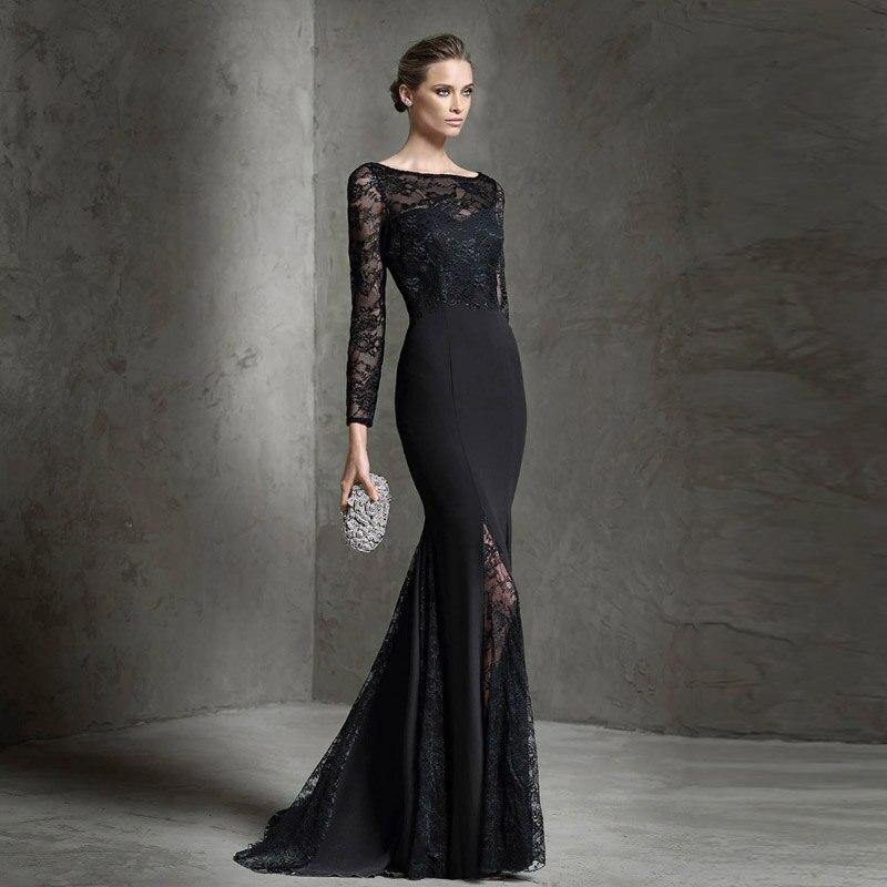 Девушки в вечерних черных платьях фото
