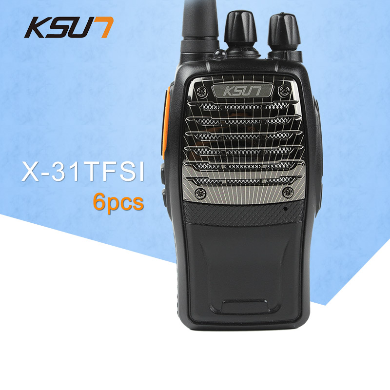 6 PCS KSUN X-31TFSI Walkie Talkie VOX Function 5W Handheld Pofung UHF 400-470MHz 16CH Two Way Portable CB Radio