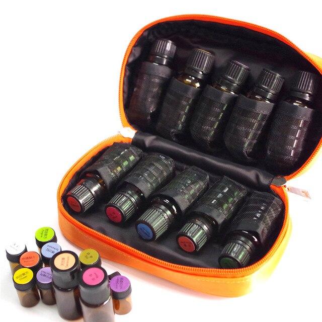 Mallette de voyage pour les huiles essentielles | 10 bouteilles, support de sac de rangement, Portable, mallette de voyage, robuste, Double fermeture éclair
