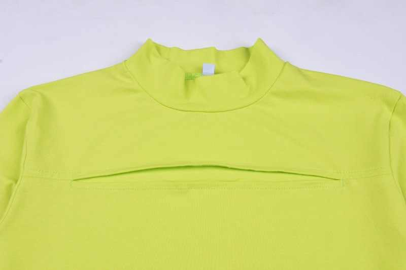 Detail Feedback Questions About Simenual Neon Green Cut Out T Shirts