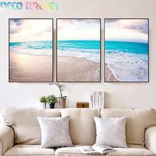 Full Diamondpainting The Most Beautiful Beach Scenery Diy Diamond Embroidery Concise 3 Combined Picture For Restaurant