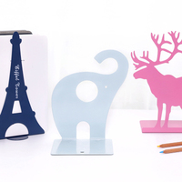 2PCS/Pair Korean Cute Animal Book Stand Metal Bookends Office Decoration Desk Bookshelf For Books