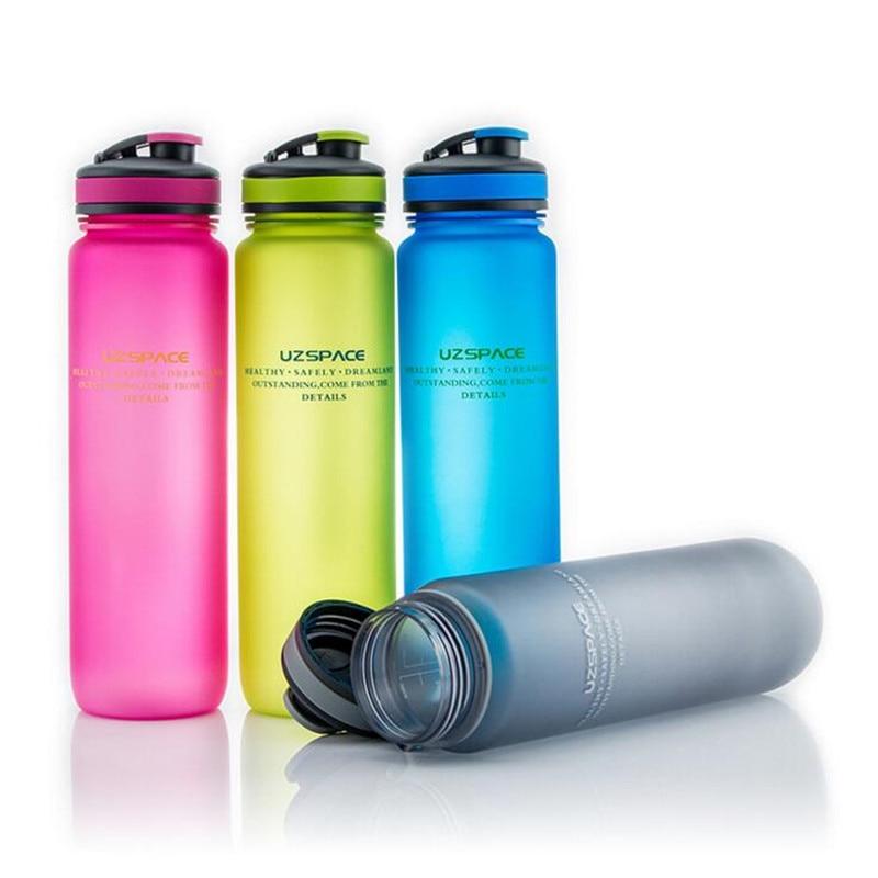 Tritan(BPA Free) My Fashion Water Bottles 1000ml Scrub Portable Space Resistant Sports Nutrition Custom My Shaker Bottle 4Color