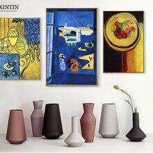 Fondo Verde de manzanas sobre la mesa, papel de pared Vintage con pintura de fauvismo de Enrique Matisse, cartel de papel Kraft, decoración del hogar, regalo familiar